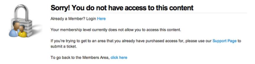 No Membership Access